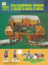 Tiny Frontier Fort Press Out and Assemble Whitman 1975 Unused