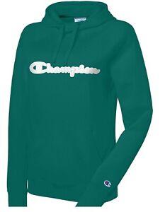 Champion Women's Powerblend Cotton Logo Hoodie XL $80