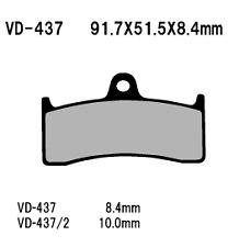 Vesrah Organic Front Brake Pads  VD-437