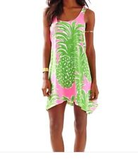 NWT Lilly Pulitzer Monterrey Tank Dress Flamenco Pink Pout Pineapple M