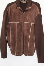 Vintage ANDERSON LITTLE Brown Leather Sweater Sz XL L#125a