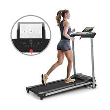 Tapis course & marche roulant électrique pliant 1-10km/h BT LCD USB TouchDisplay