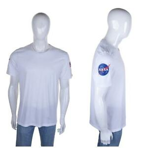 Vintage ALPHA INDUSTRIES NASA T Shirt L Retro Logo Top