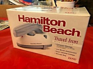 New Travel Iron With Steamer Hamilton Beach NEW IN BOX  10090