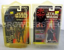 Sw Ep1 Darth Maul (Jedi Duel) CommTech & PotF Death Star Gunner '95 Kenner NiB