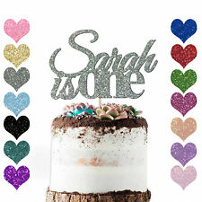 PERSONALISED 1st Birthday Cake Topper Custom ANY NAME AGE Glitter Cake Baby Gift