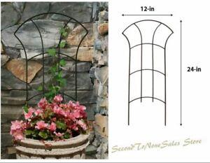 Metal Garden Trellis Climbing Vine Potted Plants Grow Small Vegetables Support