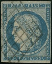 Cérès 25c bleu 3 nuances n°4f bleu clair n°4 bleu n°4a bleu foncé cote 205 euros