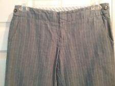 Gap Women's Flared Leg Hip Slung Fit Pants  Size 6    Lt Gray/Dk Gray  (T019K)