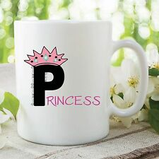 Princess Girls Mug Pink Crown Royalty Essex Style Tea Coffee Cup Gift WSDMUG206