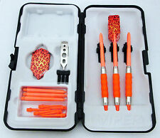 Orange Leopard Slim Rubberized Sure Grip Soft Tip Dart Set + Case 16 gram - 4