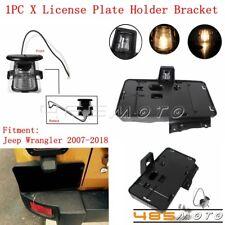 Motorcycle Plastic Rear License Plate Holder Bracket + Light For Jeep Wrangler