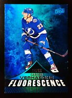 CARTER VERHAEGHE - /50 - 2019-20 UPPER DECK FLUORESCENCE BLUE #F-30 ROOKIE
