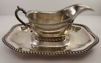 Portsmouth Silver Co Gravy Bowl With Fitted Under Tray Silver Plate EPC #971