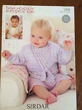 """Sirdar DK Knitting pattern 1838 Girls Baby Cardigan 16""""-26"""" (1479)"""