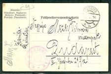 1916, Hungary naval card, ship 'KAISER MAX' purple cxl