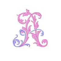 Machine embroidery design Font pattern. Monogram embroidery