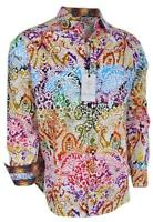 NEW Robert Graham $248 ZELANDIA Reef Print Cotton Classic Fit Sports Shirt