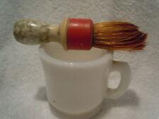 Vintage Milk Glass Shaving Mug & Brush with Bakelite Handle