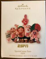 2008 Hallmark Keepsake Christmas Ornament ESPN Sports Center Fans QXI2164