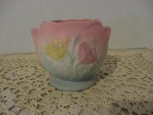 "Vintage Mid 1940's Hull Pottery ""Poppy"" 3 3/4"" Jardinier 608 4 3/4"
