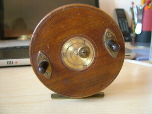 """Vintage Heaton, 4"""", 3 Screw Star Back Centrepin Spinning Reel. Finely Made."""