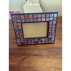 Mosaic Glass Tile Picture Photo Frame 4x6