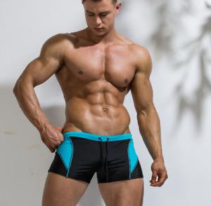 Deenyt Beach Swimming Trunks Men's Sexy Quick drying Nylon Swimwear Boxer Shorts