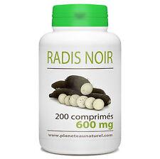 Radis Noir 600 mg - 200 comprimés - Planète au Naturel