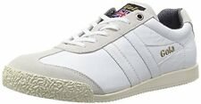NEW Gola Harrier 68 Leather Trainers Men's Size 11 White Casual Sneakers Shoes