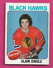 1975-76 OPC # 394 HAWKS ALAIN DAIGLE  ROOKIE EX+  CARD (INV# C0546)