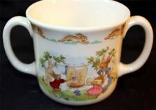 Bunnykins Two Handled Royal Doulton Mug Cup Bunnies Laundry Day