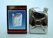 New in Box, Stainless steel 6 oz. Jerry Can Flask Replica (SHIPPED FROM USA!!!!)