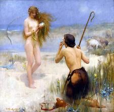 8 x 8 Art Fantasy Girl Nude Ceramic Mural Backsplash Bath Tile #1793