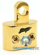 "STINGER SPT8202 GOLD DUAL 4 GAUGE 5/16"" HOLE PRO RING BATTERY CAPACITOR TERMINAL"