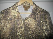 NEW LEOPARD gold jacket/Peck & Peck/16/matching pants/jeans available ~ set