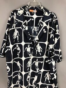 Basketball Players Old School Hoops Hawaiian Shirt REGAL WEAR 2XL Black Gray