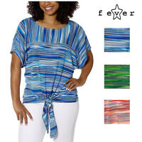 Fever Womens Tie Front Stylish Blouse