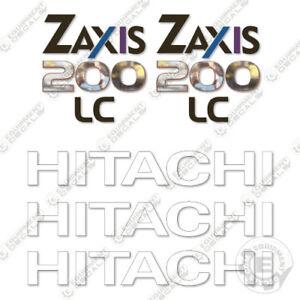 Hitachi Z-Axis 200 LC Excavator Equipment Decals ZAxis