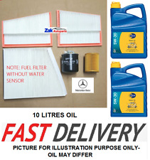 Mercedes CLS Class CLS320 CDI 05-10Service Kit Oil AirFuel PollenFilters+10L Oil