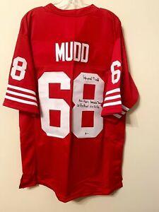 Howard Mudd Signed San Francisco 49ers Jersey Beckett BAS COA FREE SHIP *RARE*