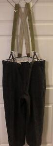 Vintage Woolrich Malone Plaid Wool Hunting Pants With Suspenders Waist 40