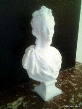 buste marie Antoinette en staff(plâtre renforcé)H54cm déco statue reine louisXVI
