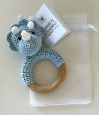 Handmade Crochet Animal Rattle-Conforms to EN71, Safety of Toys Standards