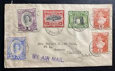 1949 Nuku'alofa Tonga Toga Airmail Cover to Seneca IL USA Sc#46