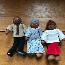 Estate Lot of R&R Signed Family of 3 Dark Skinned Grandma Grandpa Adult Child