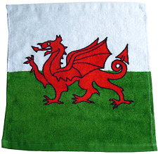 WALES CYMRU FACE CLOTH WELSH FLAG BATHROOM FLANNEL 100% COTTON SOFT MATERIAL