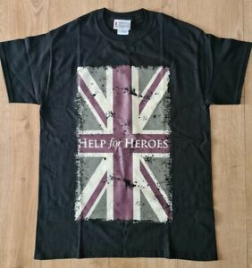 Help For Heroes Logo T shirt Official SIZES