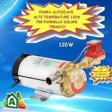 POMPA AUTOCLAVE PANNELLO SOLARE TERMICO ACQUA CALDA ALTE TEMPERATURE 120 W !!!