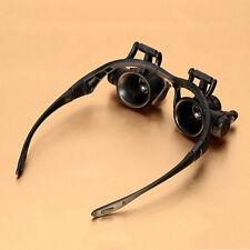 Useful 20X LED Lights Eyewear Magnifier&Watch Repair Dental Loupes Binocular
